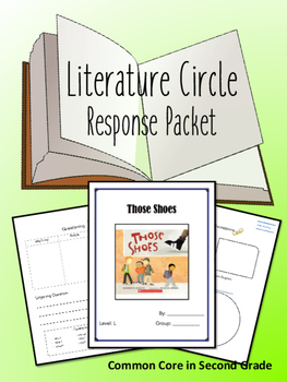 Those Shoes Literature Circle Response Packet- Book Club-