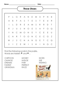 Those Shoes Word Search