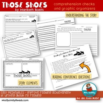 Those Shoes | by Maribeth Boelts |  Book Companion | Reader Response Pages