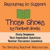 Those Shoes by Maribeth Boelts Read Aloud Activities