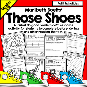 Those Shoes by Maribeth Boelts: a Reading Response Activity for 3rd-4th Grade