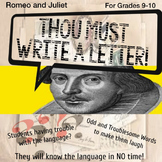 Thou Must Write a Letter! Romeo and Juliet Personal Letter Lesson