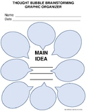 Thought Bubble Brainstorming Graphic Organizer