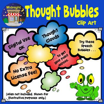 Thought Bubbles Clip Art