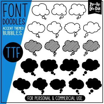 Thought Bubbles Doodle Font {Zip-A-Dee-Doo-Dah Designs}