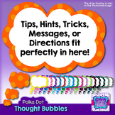 Polka Dot Thought Bubbles Clipart