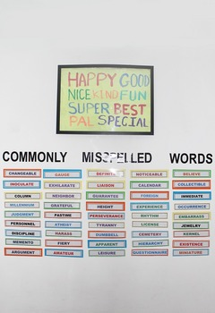 Thought-Provoking Classroom Display - Commonly Misspelled Words