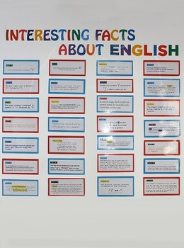 Thought-Provoking Classroom Display - Interesting Facts About English
