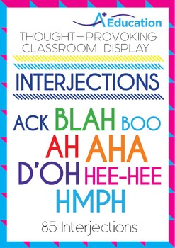 Thought-Provoking Classroom Display - INTERJECTIONS