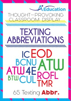 Thought-Provoking Classroom Display - Texting Abbreviations