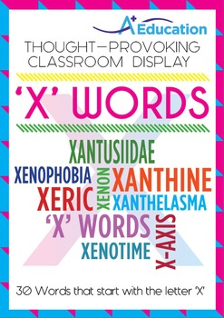 Thought-Provoking Classroom Display - 'X' WORDS