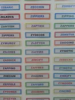 Thought-Provoking Classroom Display - 'Z' WORDS