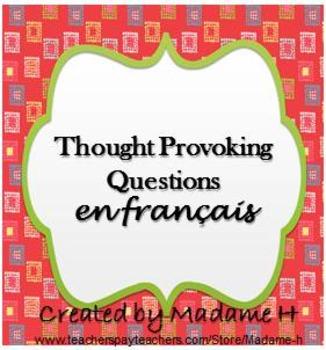 Thought Provoking Questions en français!