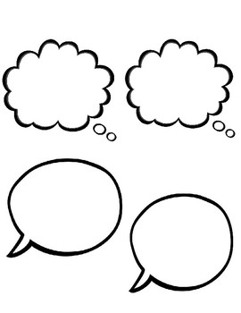 Thought/Speech Bubbles for Character Body-Biography Actvitiy