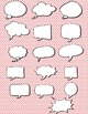 Thought and speech bubbles clip art: Lichtenstein inspired and plain