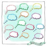 Thought bubbles (filled and transparent)