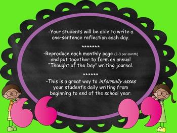 Thought of the Day Writing Journal * Un pensamiento al día - Diario de escritura