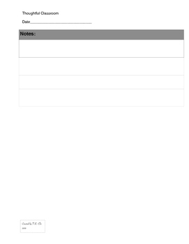 Thoughtful Classroom Lesson Plan Template