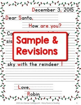 writing a friendly letter to santa