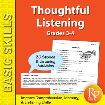 Thoughtful Listening (Grades 3-4)