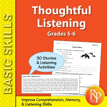 Thoughtful Listening (Grades 5-6)