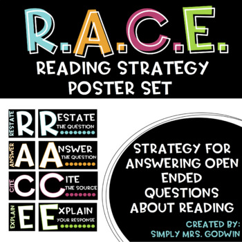 Thoughtful Reading Strategy - R.A.C.E. Strategy Poster