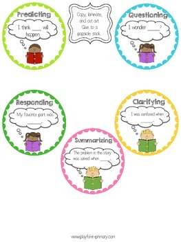 Thoughtful Thinkers Comprehension Sticks: Bloom's Taxonomy- FREEBIE SAMPLE!