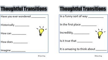 Thoughtful Transitions - a writing tool