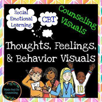 Thoughts, Feelings & Behavior Visuals for Counseling - Available in Spanish