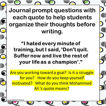 Journal Writing Responses for Students