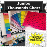 Super Jumbo Thousands Chart+ Bonus Practice Sheets (60 pages!!!)