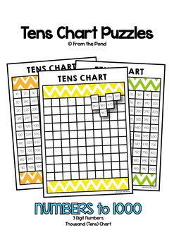 Thousand Chart Puzzle Activities