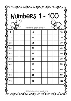 Thousands Book /Count to One Thousand /Numbers to 1000 /Fill in the gaps bookle