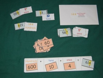 Thousands Place Value with Expanded form-math center-file folder game