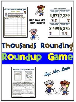 Thousands Rounding Roundup Game