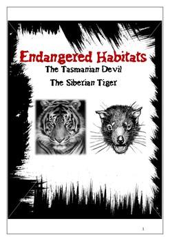 Threatened Habitats the Tasmanian Devil and the Siberian Tiger