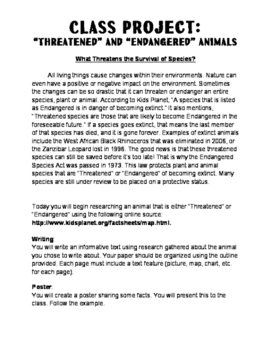 Threats to Survival Project (RESEARCH)