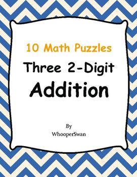 Three 2-Digit Addition Puzzles