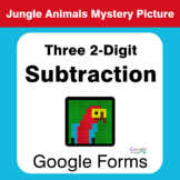 Three 2-Digit Subtraction - Animals Mystery Picture - Goog
