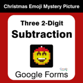 Three 2-Digit Subtraction - Christmas EMOJI Mystery Pictur