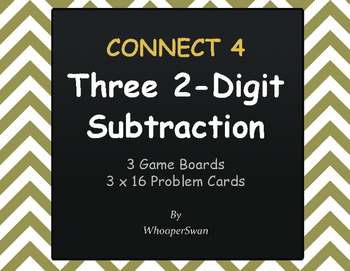 Three 2-Digit Subtraction - Connect 4 Game