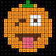 Three 2-Digit Subtraction - EMOJI PUMPKIN Mystery Picture - Google Forms
