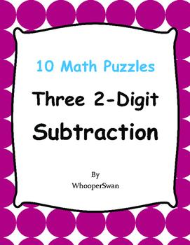 Three 2-Digit Subtraction Puzzles