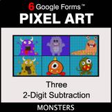 Three 2-Digit Subtraction - Pixel Art Math   Google Forms