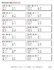 Three 2-Digit Subtraction Quiz - Test - Assessment - Worksheet