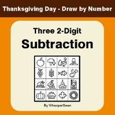 Thanksgiving Math: Three 2-Digit Subtraction - Math & Art