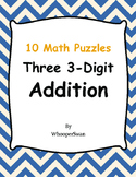 Three 3-Digit Addition Puzzles