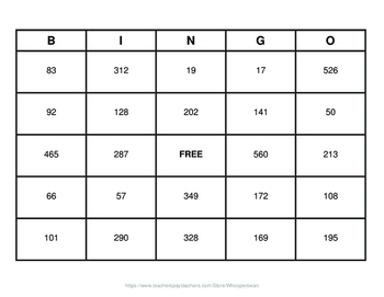 Three 3-Digit Subtraction BINGO and Task Cards