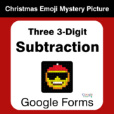 Three 3-Digit Subtraction - Christmas EMOJI Mystery Pictur