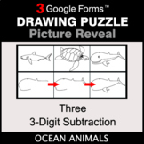 Three 3-Digit Subtraction - Drawing Puzzle   Google Forms